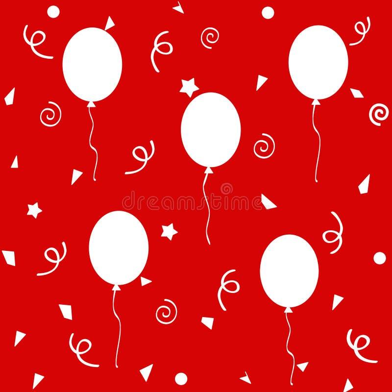 El cumpleaños hincha el modelo libre illustration
