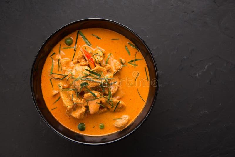 El curry rojo del estilo tailandés con el menú de la carne de vaca o el nombre tailandés es neur del panaeng Menú de la carne de  foto de archivo libre de regalías