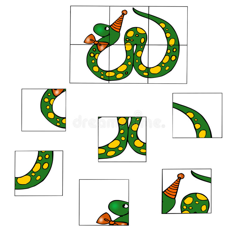 El décimo juego, rompecabezas ilustración del vector