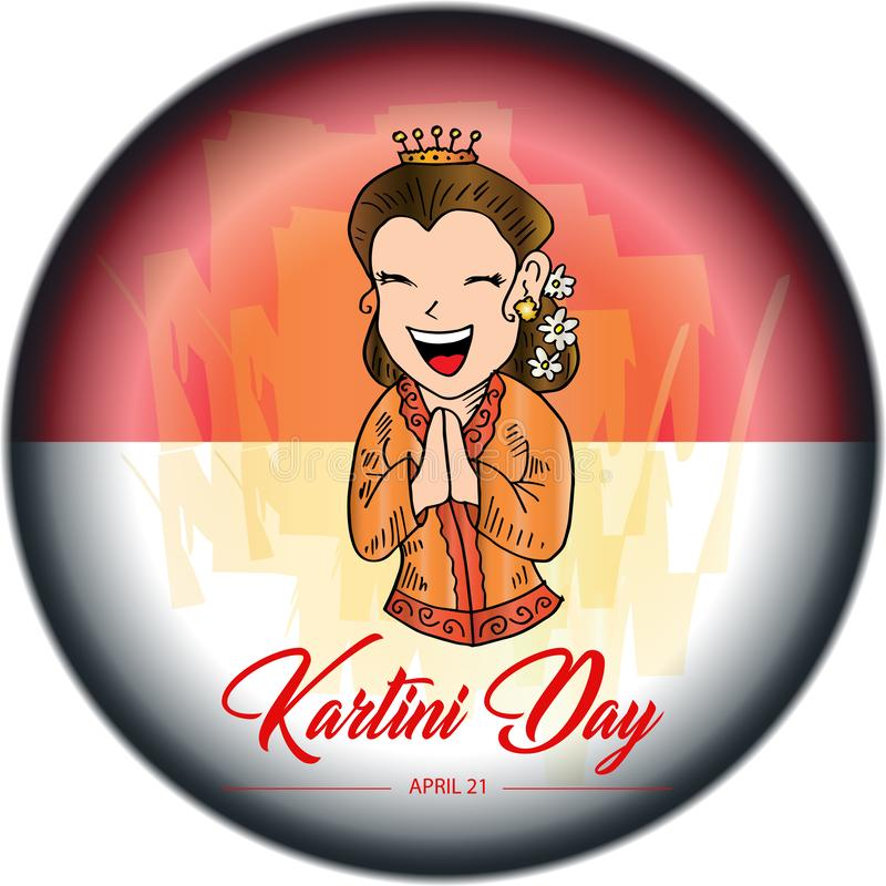 El día de Kartini feliz stock de ilustración