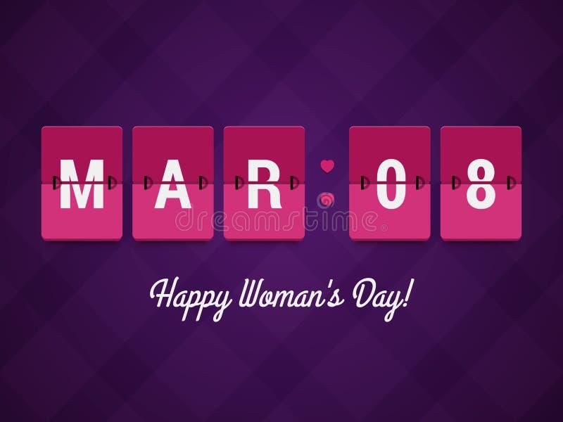 El día de la mujer feliz stock de ilustración