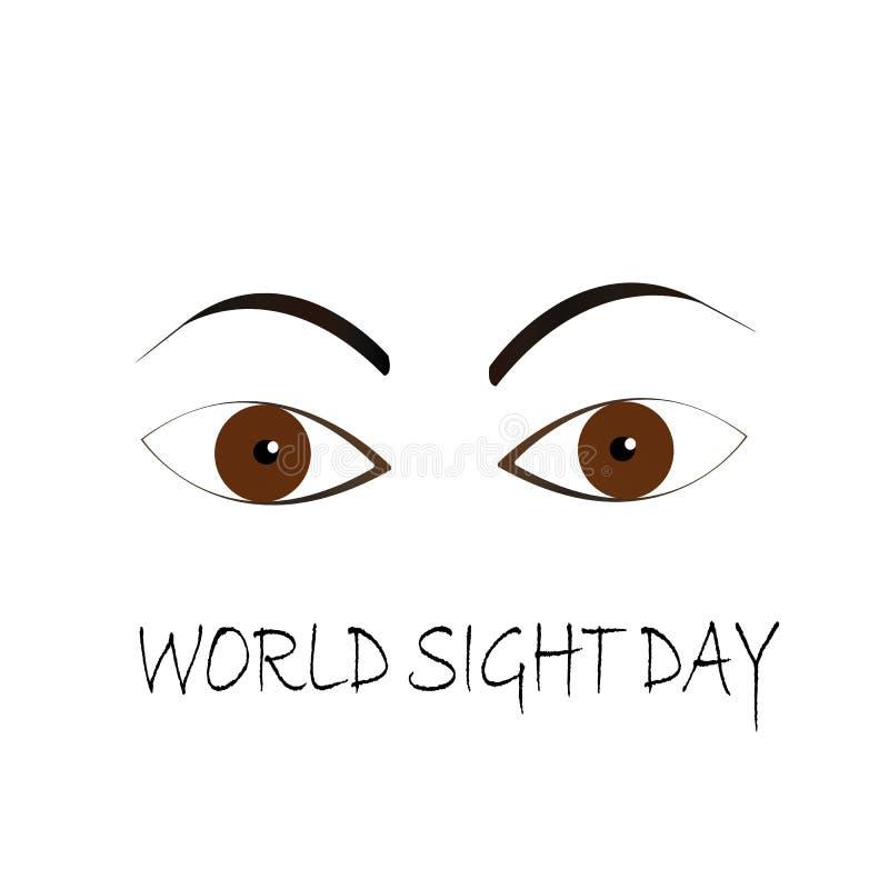 El día de la vista del mundo observa concepto ilustración del vector
