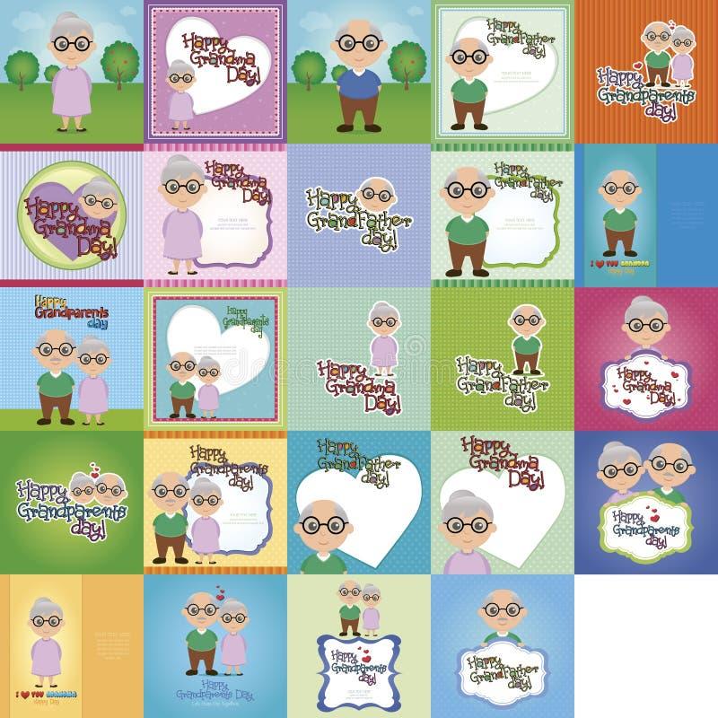 El día de los abuelos stock de ilustración
