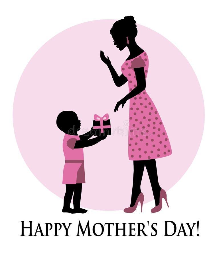 ¡El día de madre feliz! stock de ilustración