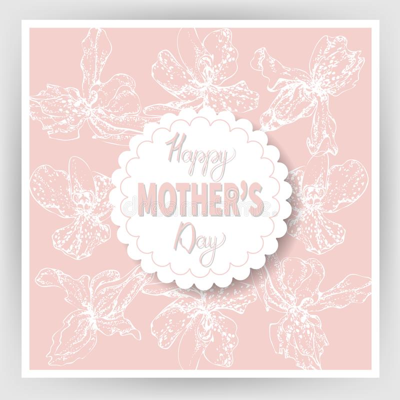 El día de madre feliz 14 stock de ilustración