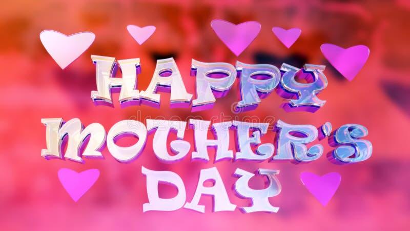 El día de madre feliz Logo Design vivo stock de ilustración