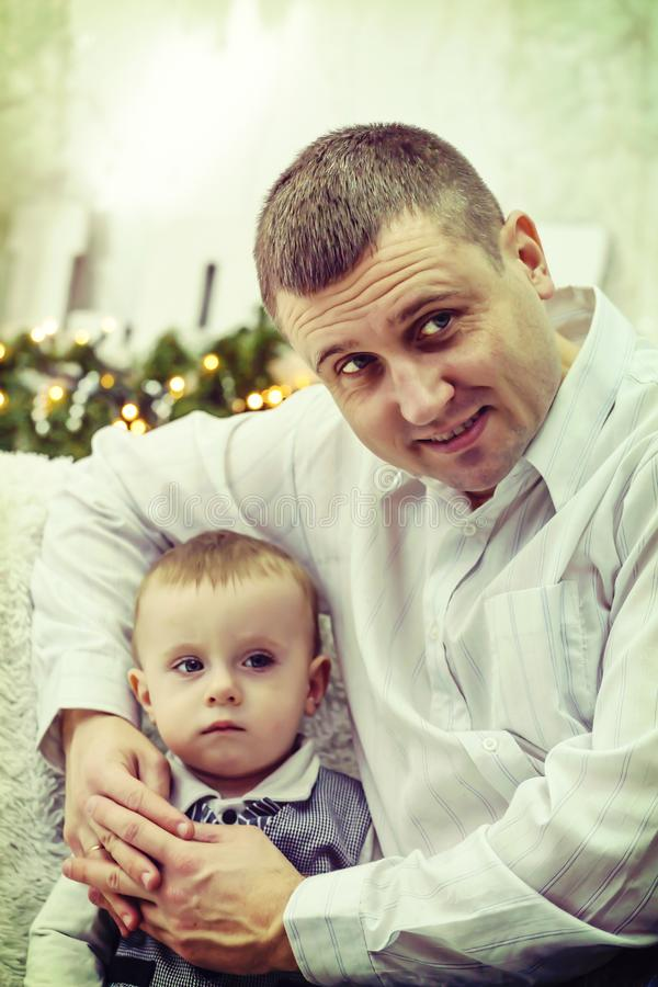 El día de padre, padre del hijo del amor de la familia del padre foto de archivo libre de regalías