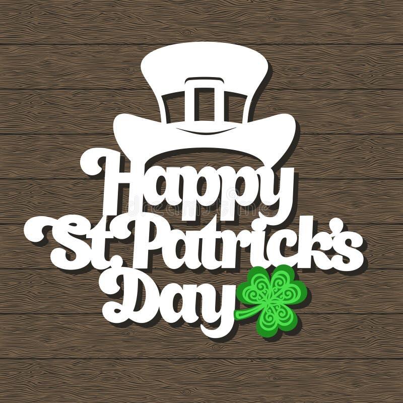 El día de St Patrick feliz de la tarjeta stock de ilustración