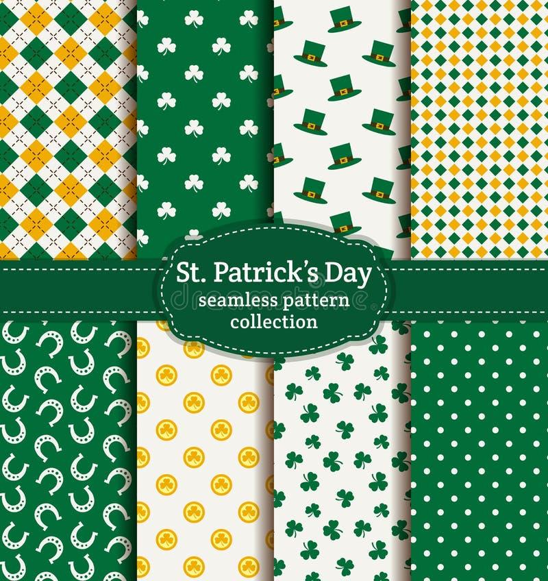 ¡El día de St Patrick feliz! Sistema de modelos inconsútiles del vector libre illustration