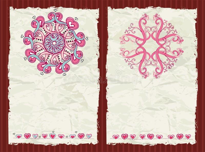 El día de tarjeta del día de San Valentín ilustración del vector