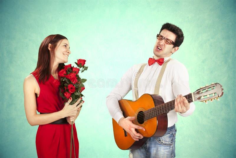 El día de tarjeta del día de San Valentín divertido. fotos de archivo libres de regalías