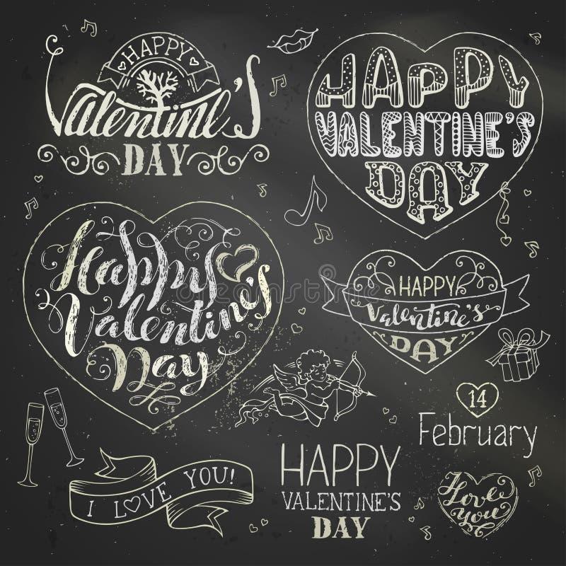 ¡El día de tarjeta del día de San Valentín feliz! ilustración del vector