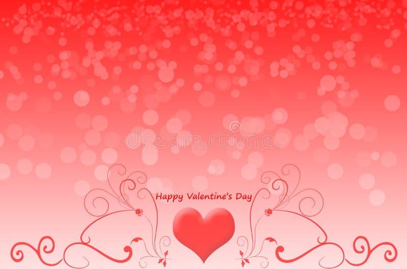 El día de tarjeta del día de San Valentín feliz en el fondo del bokeh fotografía de archivo