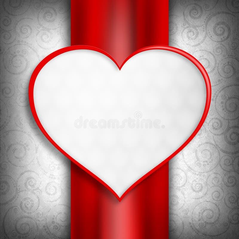 El día de tarjeta del día de San Valentín feliz - plantilla de la tarjeta stock de ilustración