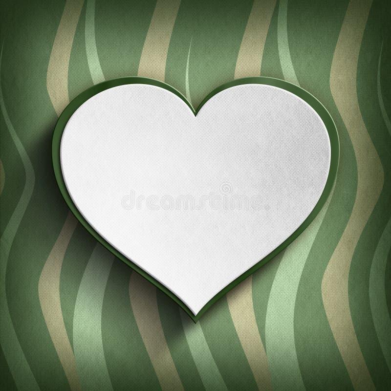 El día de tarjeta del día de San Valentín feliz - plantilla de la tarjeta de felicitación stock de ilustración