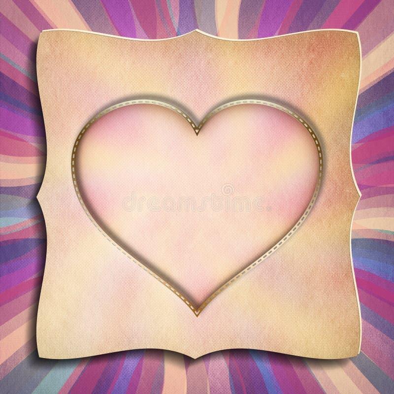 El día de tarjeta del día de San Valentín feliz - plantilla de la tarjeta de felicitación ilustración del vector