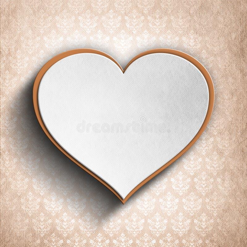 El día de tarjeta del día de San Valentín feliz - plantilla del fondo stock de ilustración