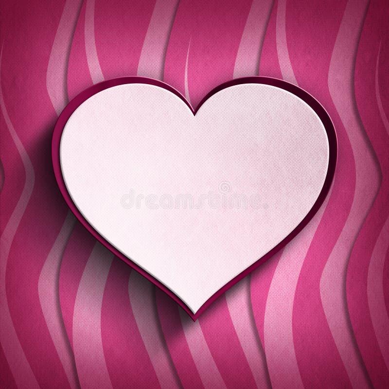 El día de tarjeta del día de San Valentín feliz - tarjeta de felicitación ilustración del vector