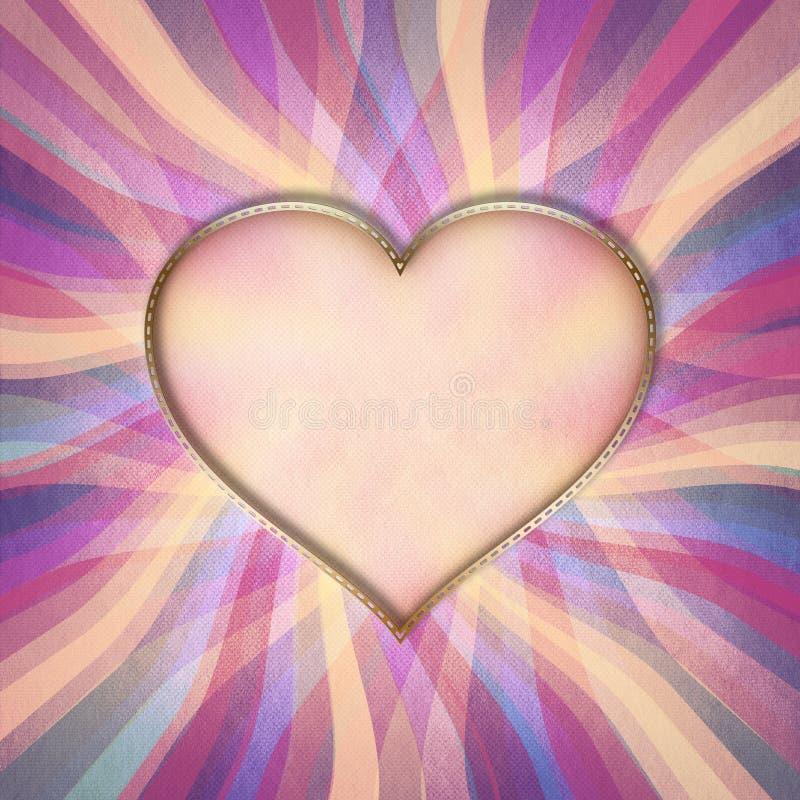 El día de tarjeta del día de San Valentín feliz - tarjeta de felicitación libre illustration
