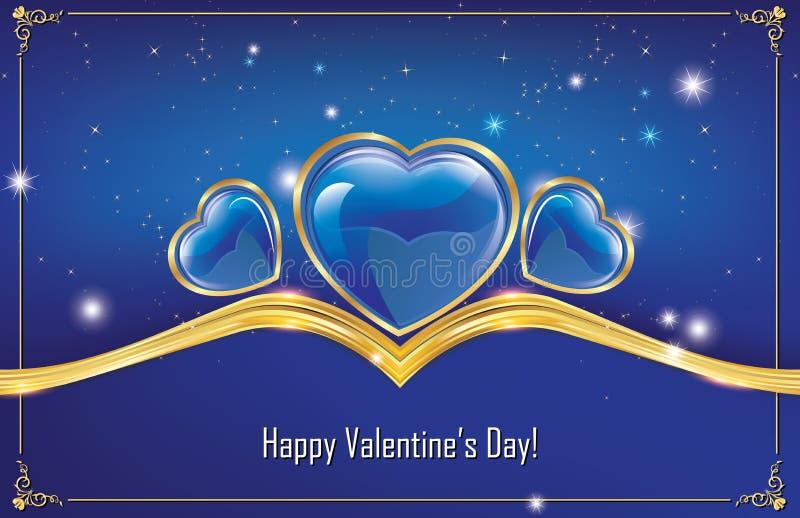 Download ¡El Día De Tarjeta Del Día De San Valentín Feliz! Tarjeta De Felicitación Azul Ilustración del Vector - Ilustración de adornado, shape: 64210512