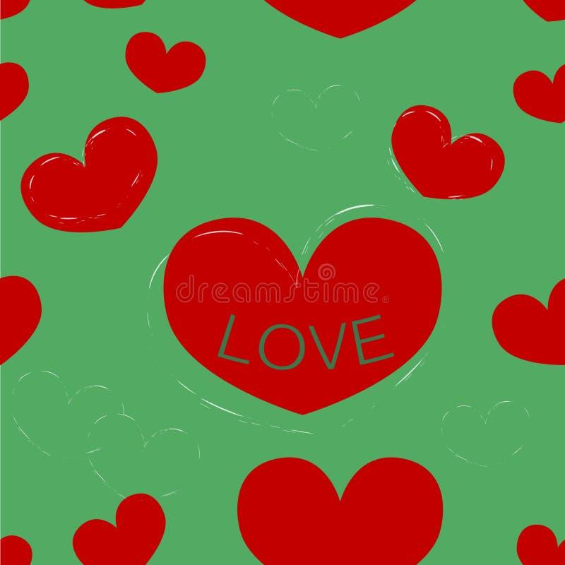 El día de tarjeta del día de San Valentín inconsútil del fondo imágenes de archivo libres de regalías
