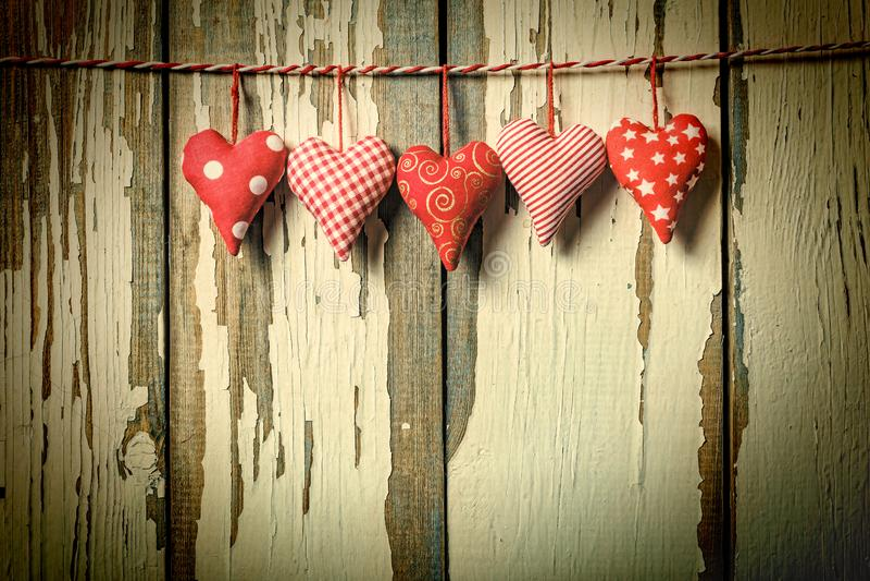 El día de tarjeta del día de San Valentín, fondo, corazones, amantes, el 14 de febrero foto de archivo