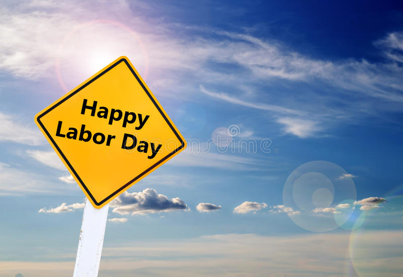 El Día del Trabajo es un día de fiesta federal de Estados Unidos América imagenes de archivo