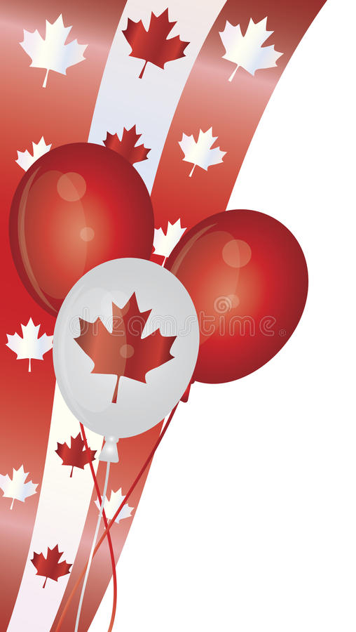 El día feliz de Canadá hincha la ilustración stock de ilustración