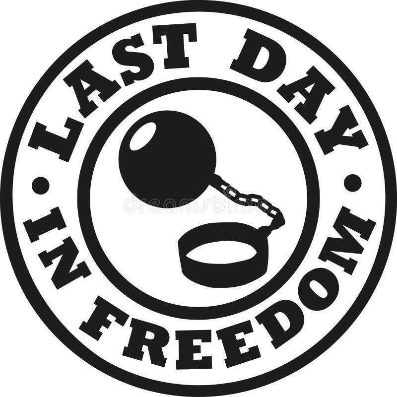 El día pasado en despedida de soltero de la libertad libre illustration