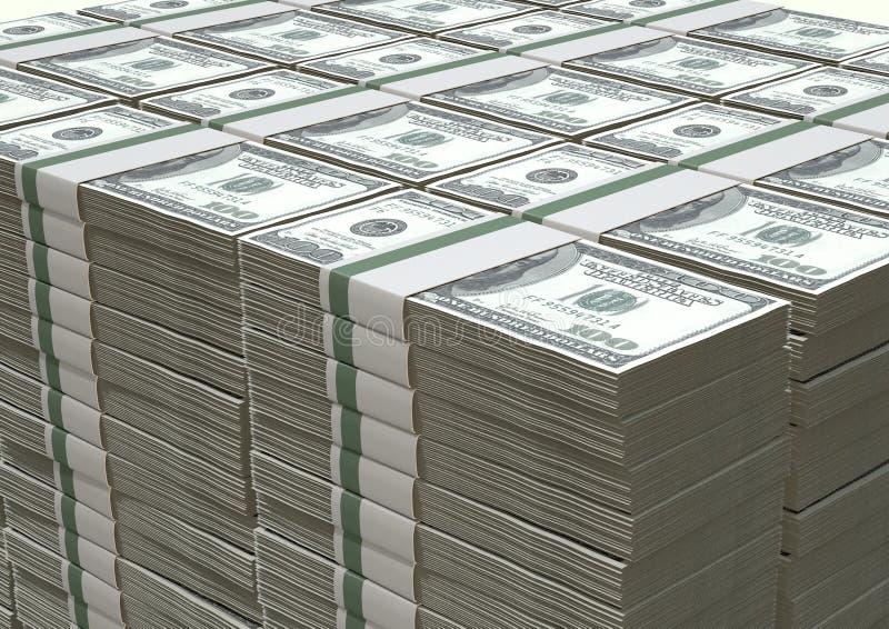 El dólar de EE. UU. observa la pila imagenes de archivo