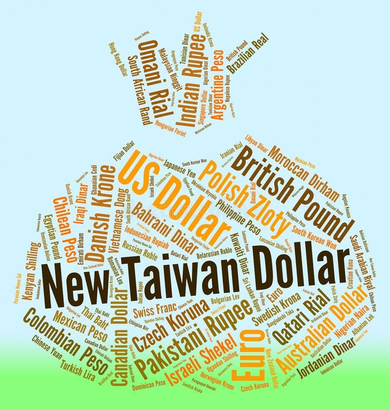 El dólar de nuevo Taiwán representa el comercio y la moneda mundiales stock de ilustración