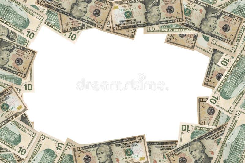 El dólar del dinero en circulación financia el fondo foto de archivo