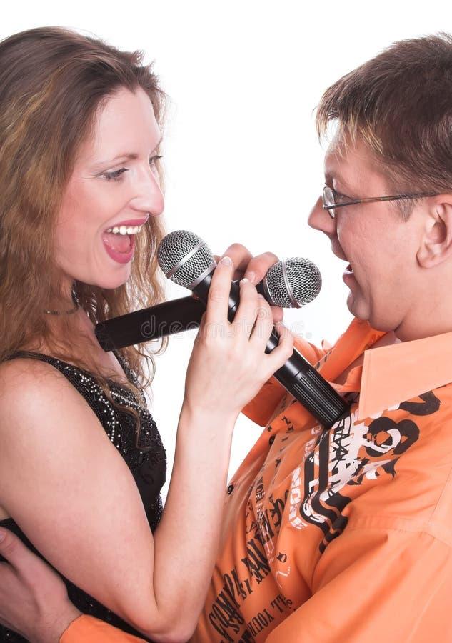 El dúo musical imagen de archivo