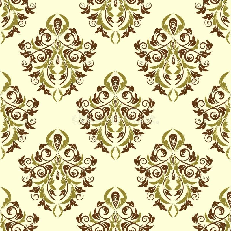 ¡El damasco Wallpaper ilustración del vector