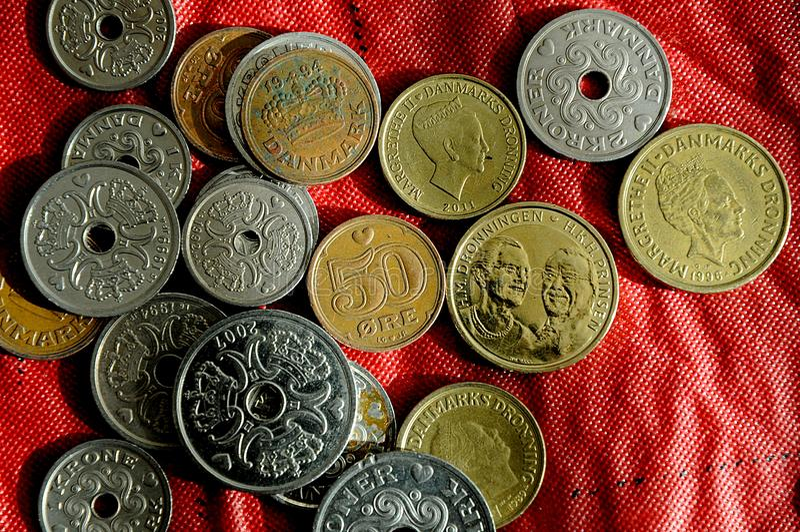 El danés acuña moneda fotografía de archivo libre de regalías
