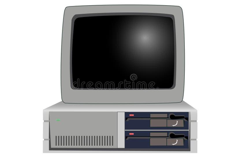 El de computadora personal viejo stock de ilustración