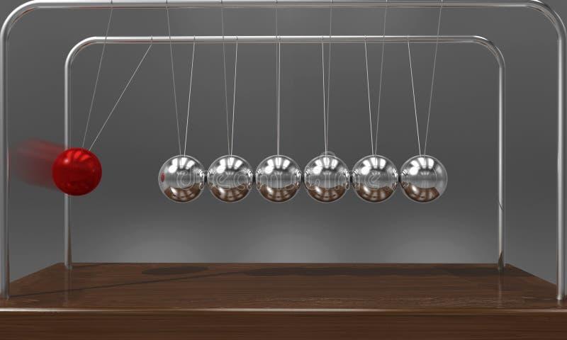 El ` de equilibrio s de Newton de la bola acuna el péndulo con la falta de definición de movimiento sobre fondo oscuro foto de archivo libre de regalías