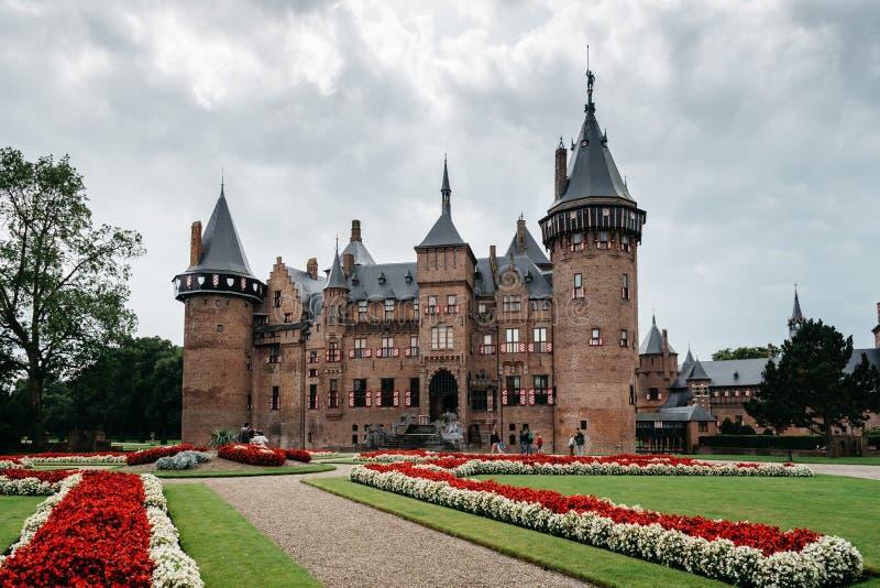 El De Haar Castle es el castillo más grande de los Países Bajos fotos de archivo