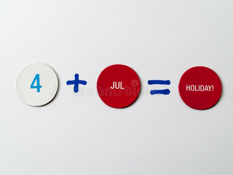 el 4 de julio imágenes de archivo libres de regalías