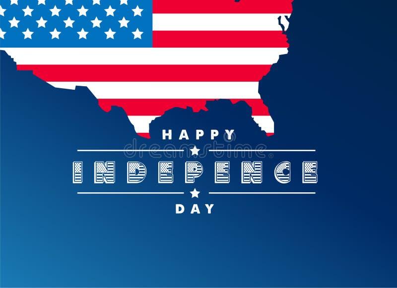 el 4 de julio, bandera feliz del Día de la Independencia, cartel, fondo, aviador, ejemplo ilustración del vector