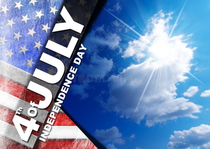 el 4 de julio - Día de la Independencia stock de ilustración