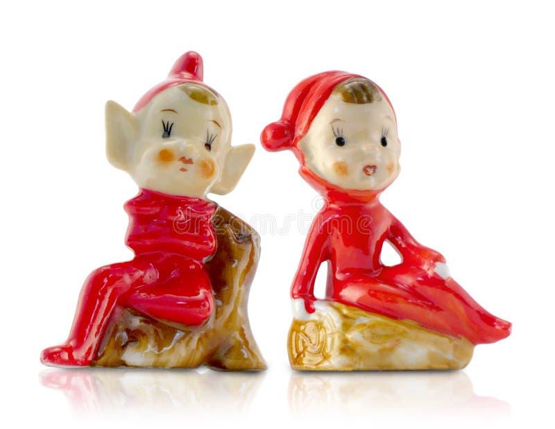 EL de la Navidad de la porcelana de la vendimia imagen de archivo libre de regalías