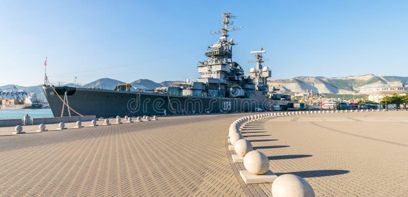 El ` de Mikhail Kutuzov del ` del crucero del nave-museo imágenes de archivo libres de regalías