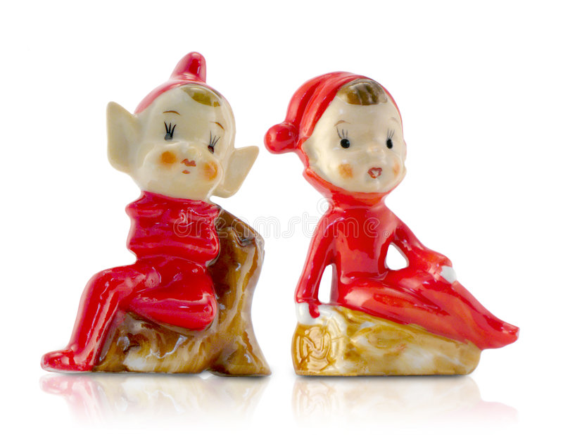 EL de Noël de porcelaine de cru image libre de droits