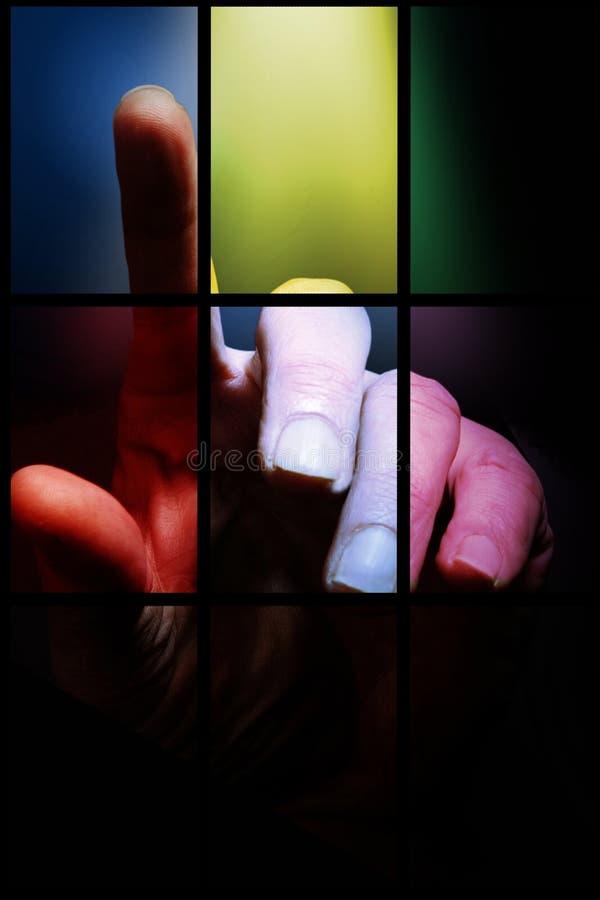El dedo  fotos de archivo