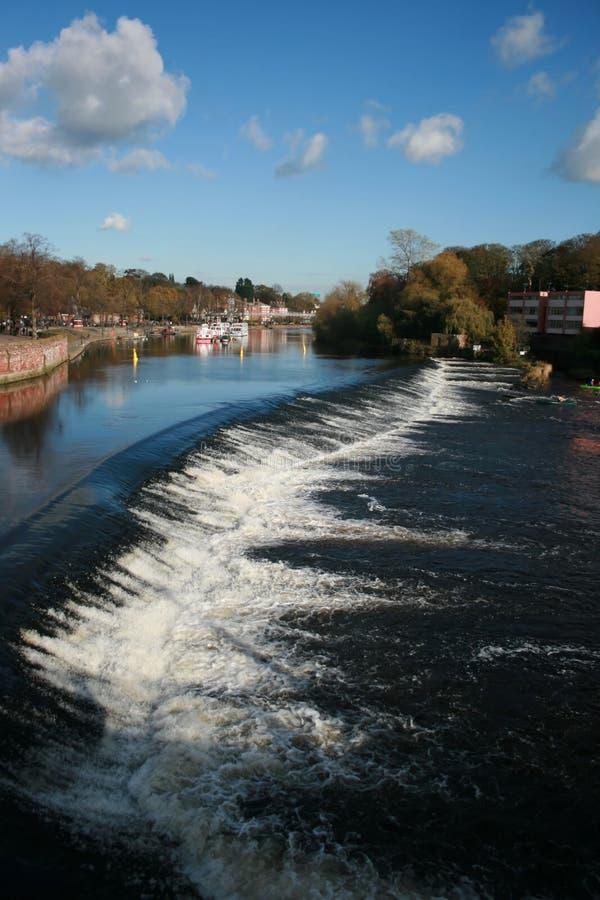 El dee del río en Chester en un día de verano foto de archivo libre de regalías