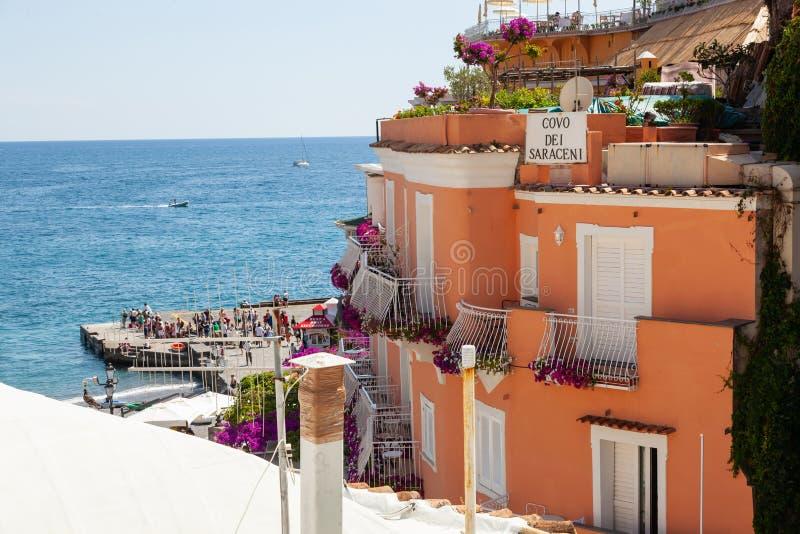 El dei Saraceni de Covo es un hotel en Positano fotos de archivo libres de regalías