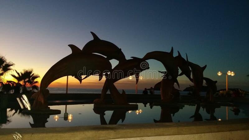 El Delfin, malecon royalty free stock image