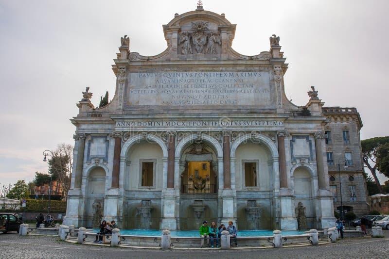 El dell 'Acqua Paola de Fontana en Roma, Italia foto de archivo libre de regalías