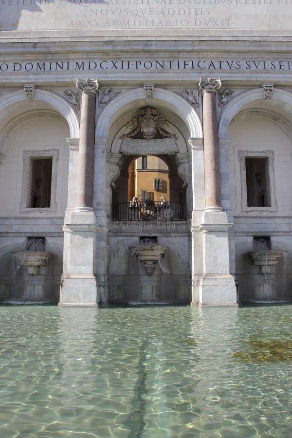 El dell'Acqua Paola de Fontana en Roma fotografía de archivo libre de regalías
